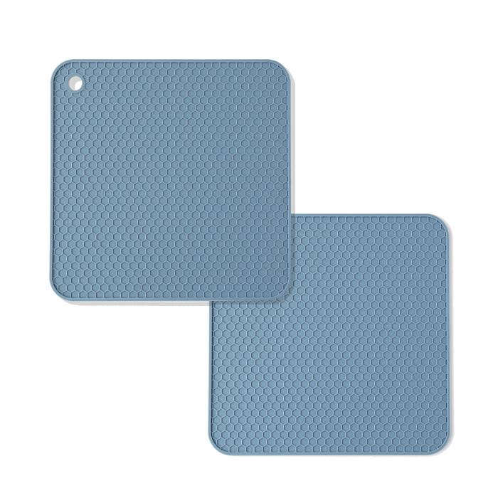 파스텔 실리콘 인덕션 보호매트, 블루, 2개