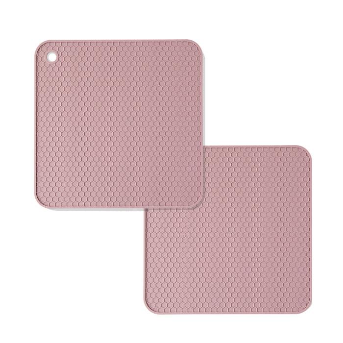 파스텔 실리콘 인덕션 보호매트, 핑크, 2개