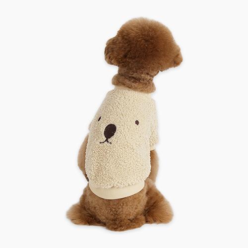 이츠독 테디베어 티셔츠 강아지 의류, 브라운