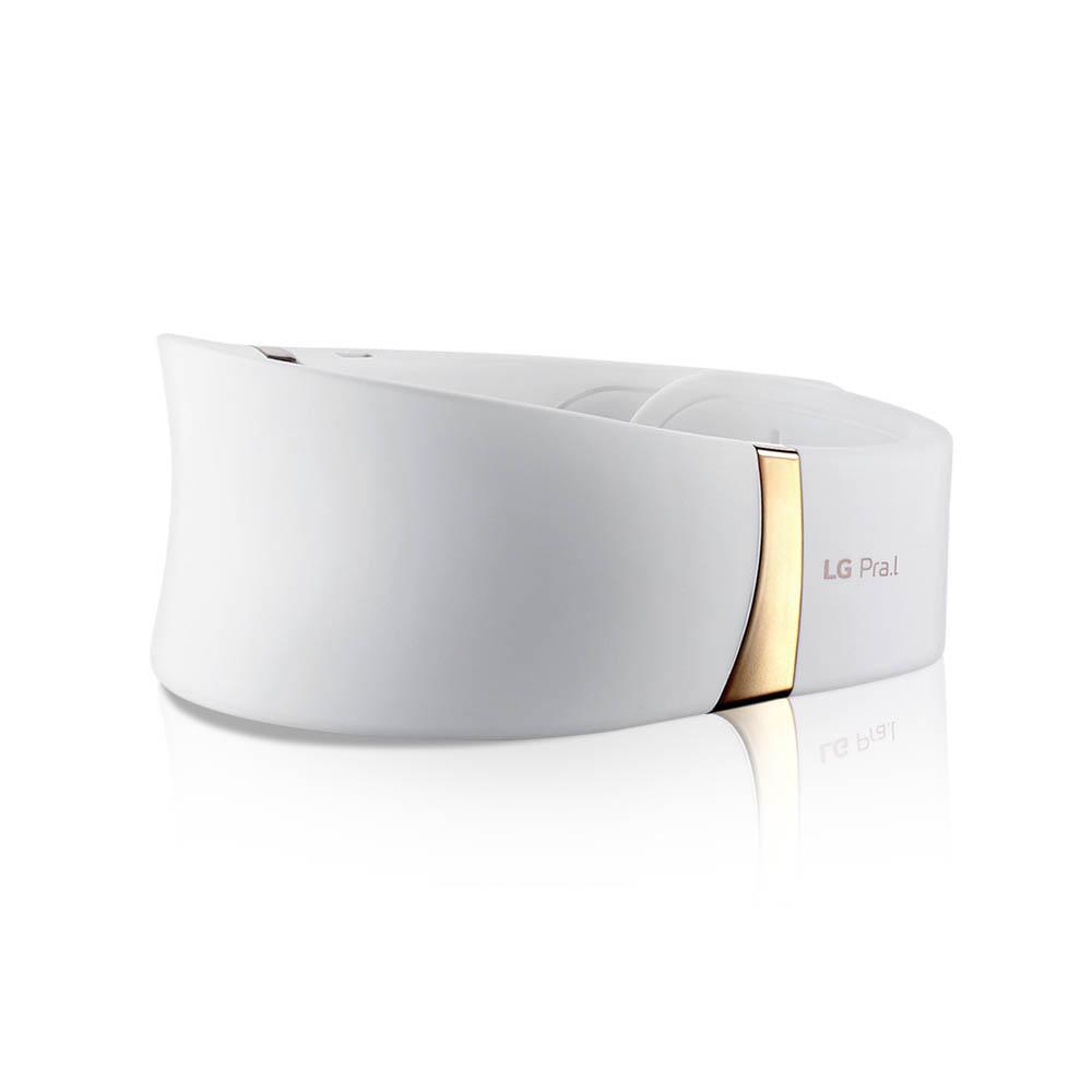 LG전자 프라엘 SWL1 더마 LED 넥케어 피부마사지기, 화이트골드