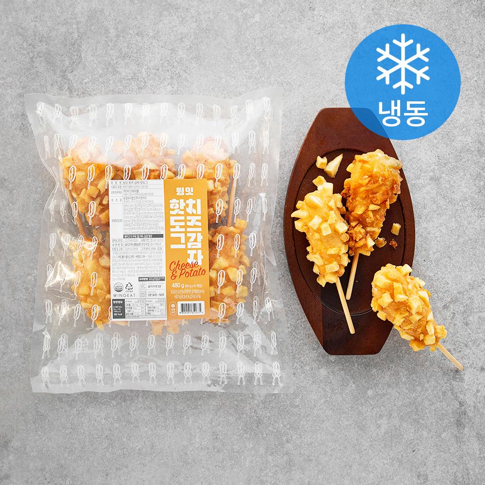 윙잇 치즈 감자핫도그 (냉동), 480g, 1개
