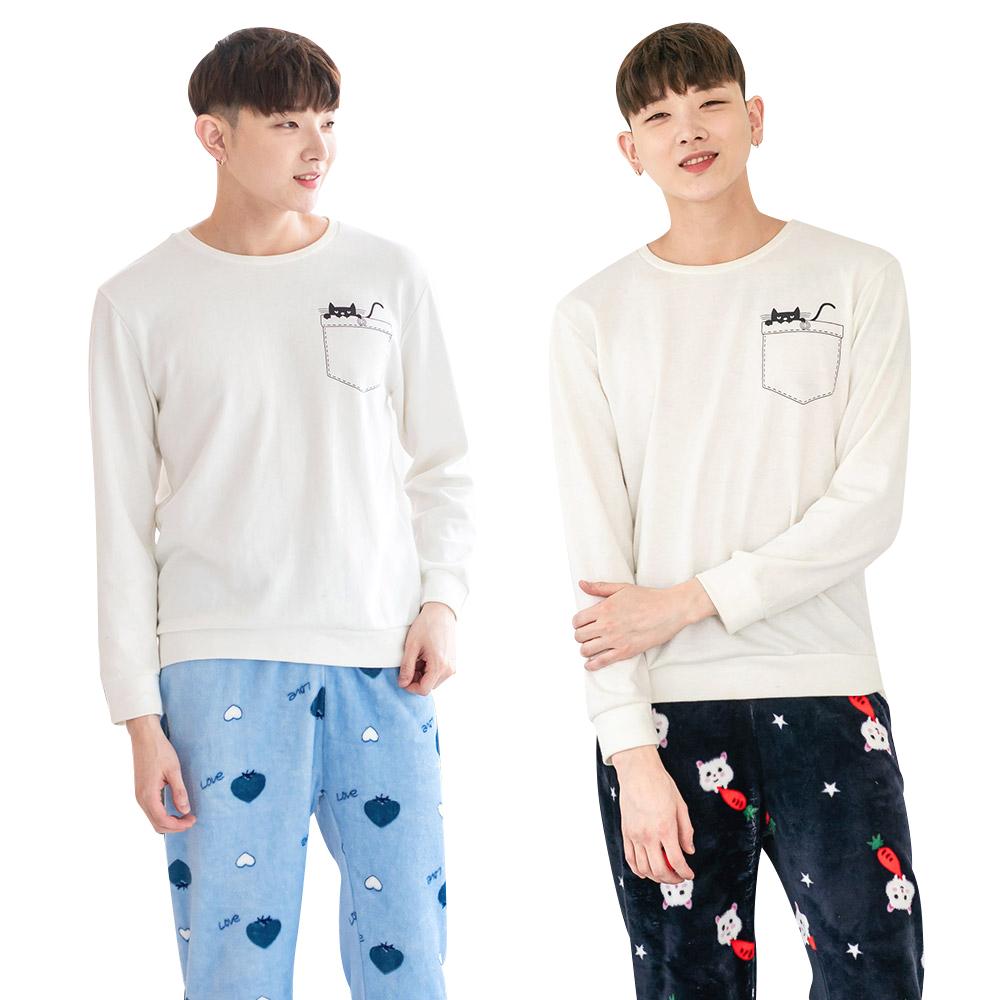 남성용 잠옷 수면바지 2매입 HOT 세트