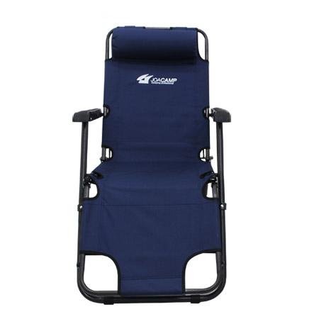 조아캠프 3단 침대 캠핑의자 대형, 네이비[CC072], 1개