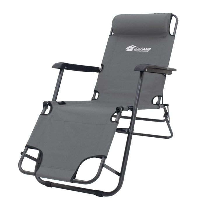 조아캠프 3단 침대 캠핑의자 대형, 그레이[CC117], 1개
