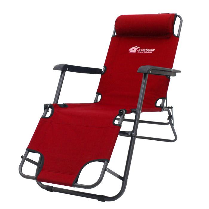 조아캠프 3단 침대 캠핑의자 대형, 레드, 1개