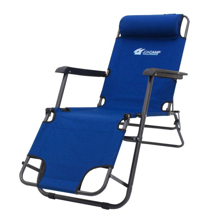조아캠프 3단 침대 캠핑의자 대형, 블루, 1개