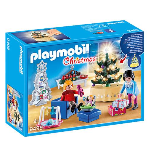 플레이모빌 크리스마스 거실 피규어 세트 9495, 1세트