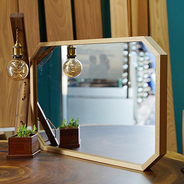 이즈하임 케이트 팔각 인테리어 대형 거울 700, 골드