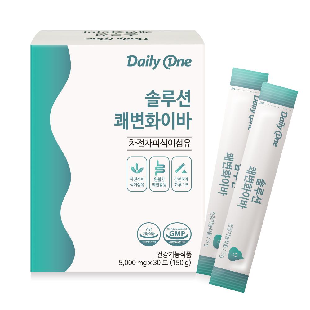 데일리원 솔루션 쾌변화이바 영양제, 5g, 30개