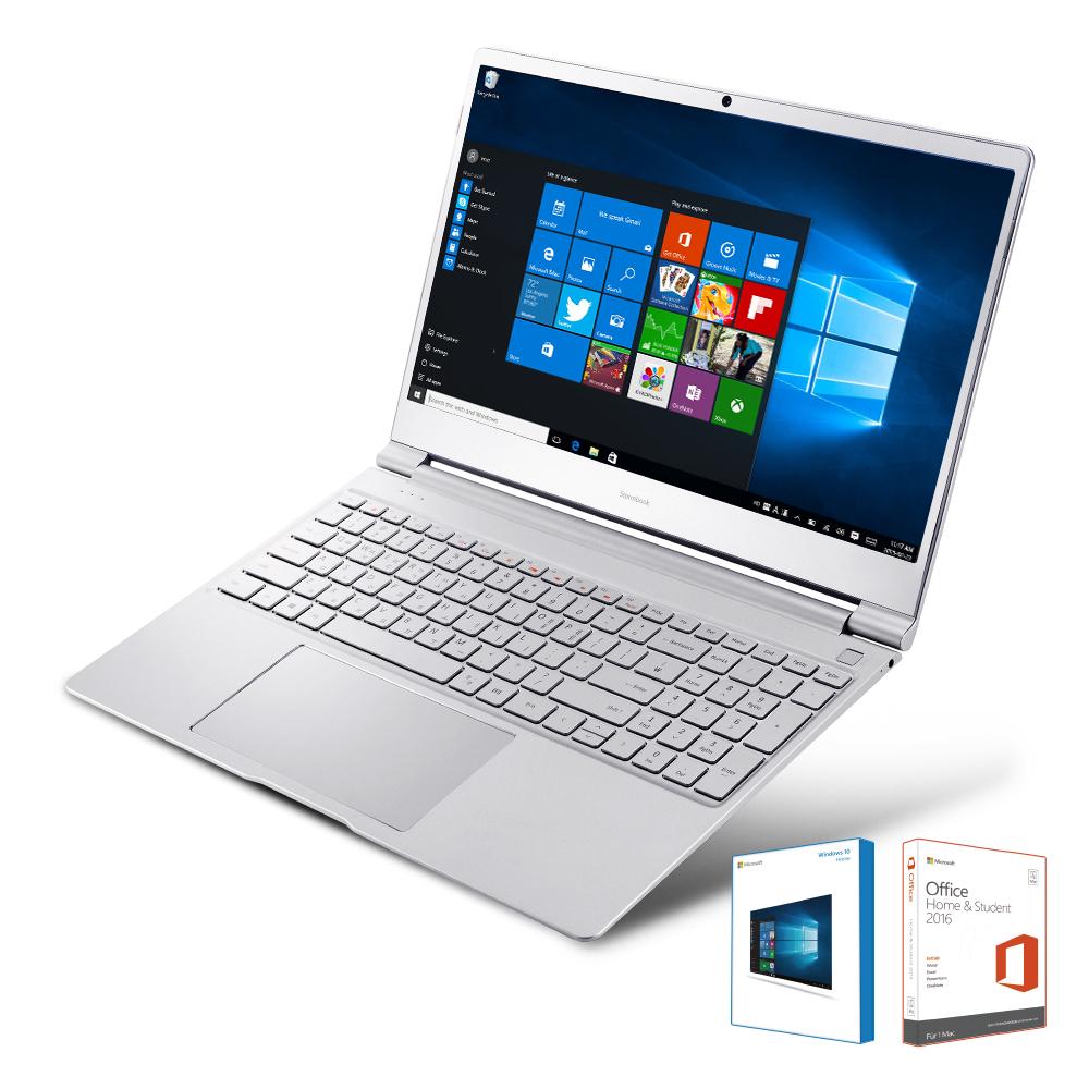 아이뮤즈 스톰북15 프로 노트북 (39.6cm MS오피스 인텔코어M3 eMMC64GB LPDDR3 8GB RAM eMMC 64GB Intel HD Graphics 515 WIN10), StormBooK15 Pro, 실버그레이
