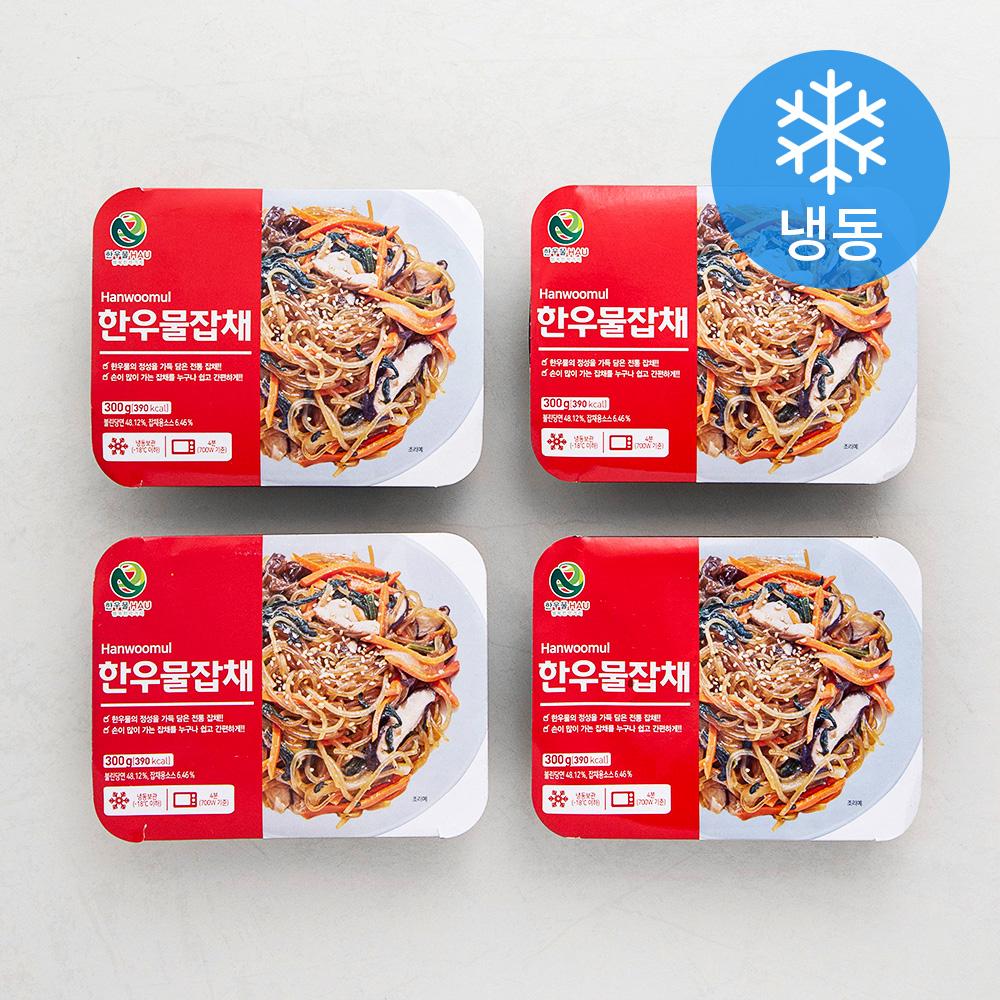 한우물 잡채 (냉동), 300g, 4개
