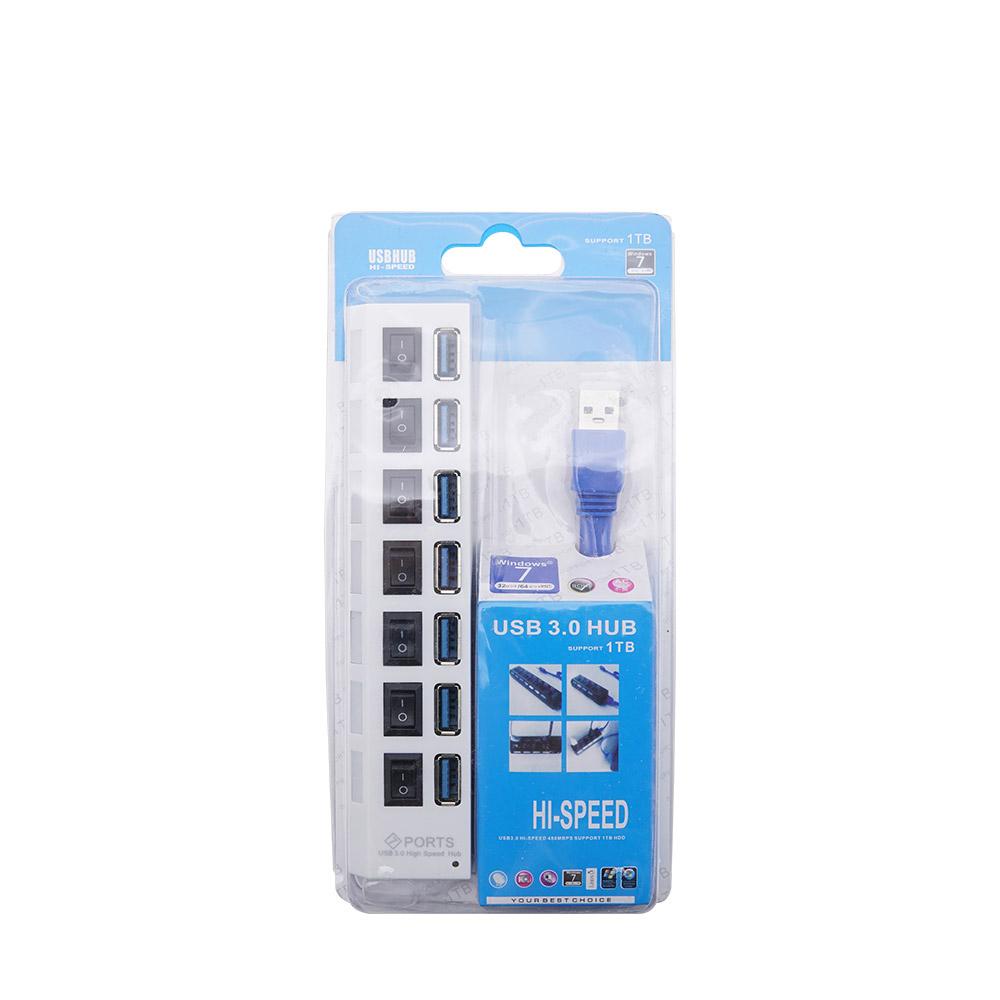 Coms 무전원 USB 3.0 7포트 개별 스위치 USB허브 BT773, 혼합 색상