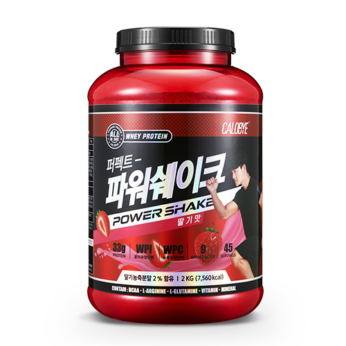 칼로바이 퍼펙트파워쉐이크 대용량 단백질보충제 프로틴 BCAA 딸기맛, 2000g, 1개