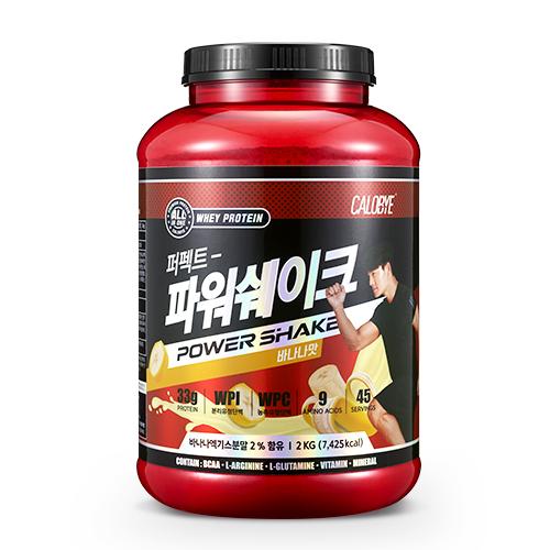 칼로바이 퍼펙트파워쉐이크 대용량 단백질보충제 프로틴 BCAA 바나나맛, 2000g, 1개