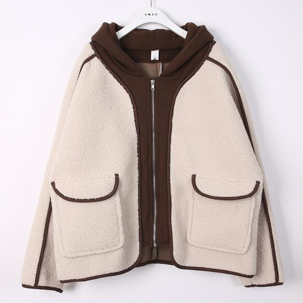 트위 여성용 마가렛 양털 자켓