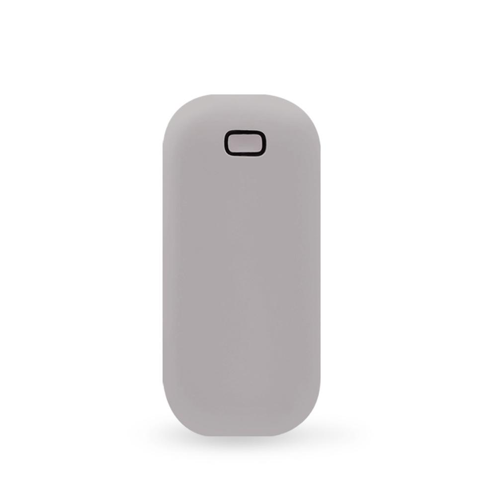 단미 조약돌 USB 충전식 손난로 보조배터리 5000mAh + 전용 파우치, pebble, 그레이