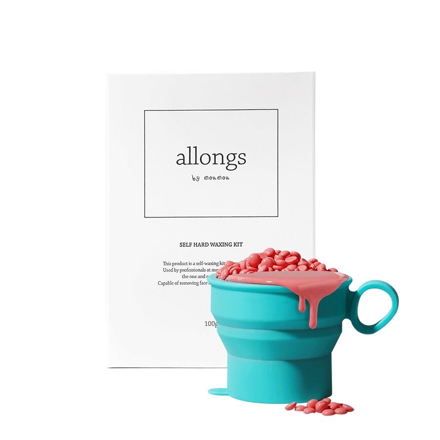알롱 셀프 하드왁싱 키트 비즈왁스 100g + 히터컵 + 스파츌라 6p, 1세트