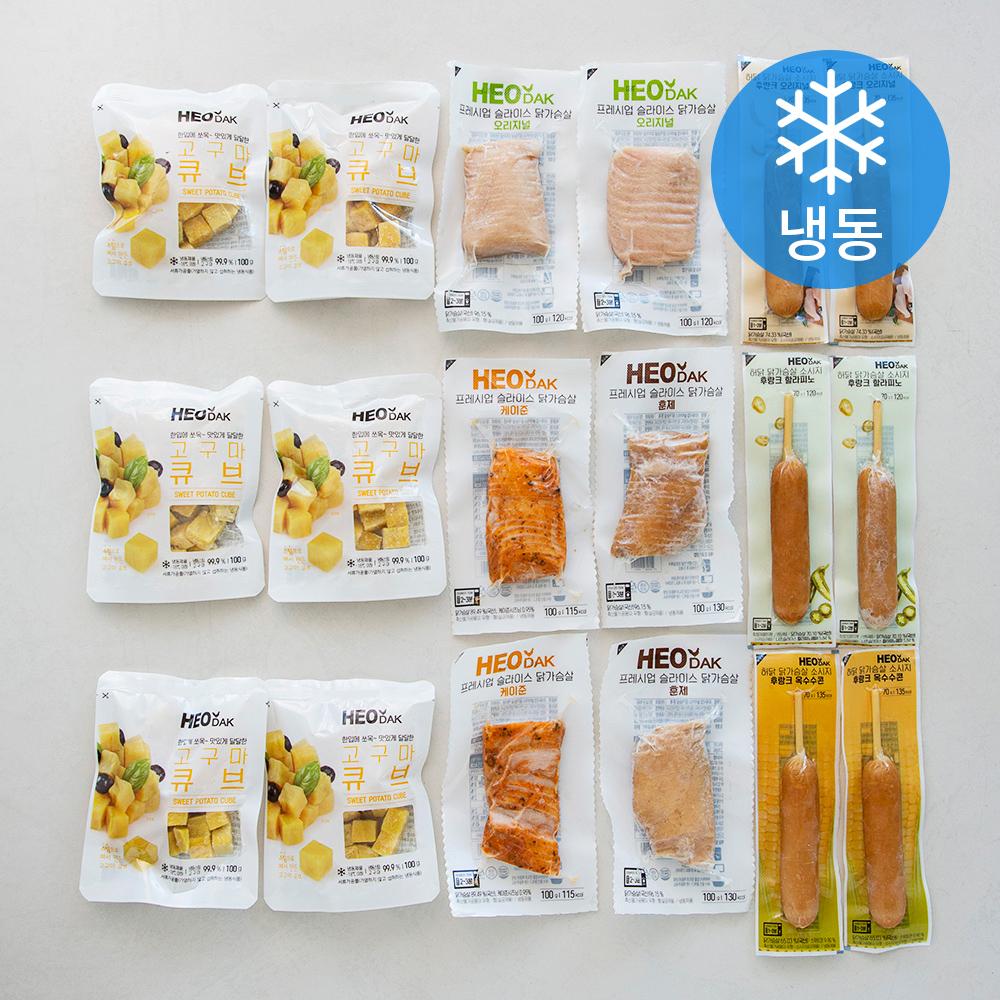 허닭 닭가슴살 든든세트 18종 세트 (냉동), 1세트