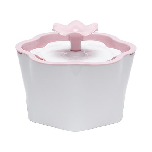 펫톡 냥이샘 플라워 반려동물 정수기 2L, 핑크, 1개