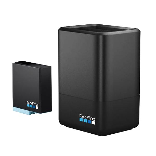 고프로 듀얼 배터리 충전기 + 2019 히어로8 블랙 & HERO7 블랙 & HERO6 블랙 신형 배터리 세트, 배터리(SPJB1B), 충전기(AADVD-001), 1세트
