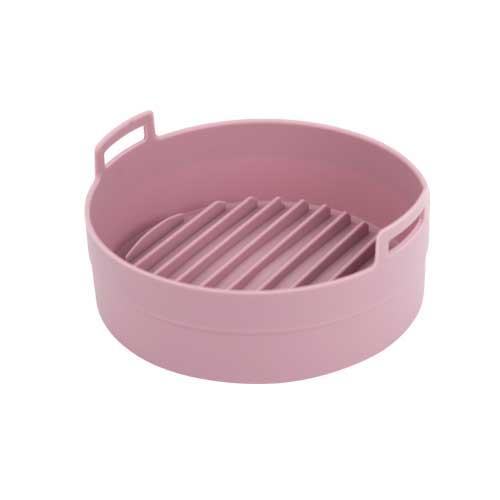 이지프라이팟 특대형 에어프라이어 전자레인지 전용 실리콘용기, 핑크, 1개