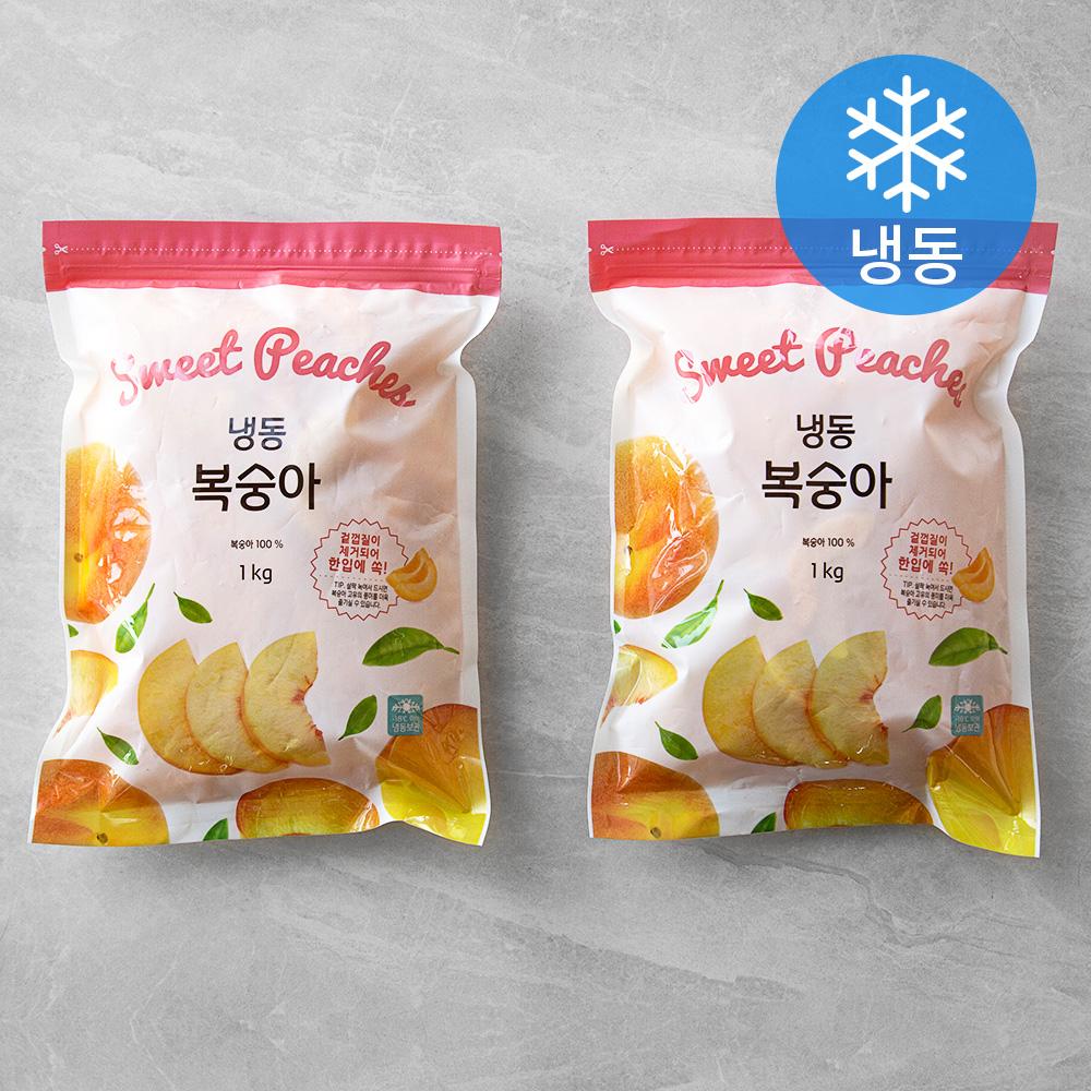 생활앤 복숭아 (냉동), 1kg, 2개