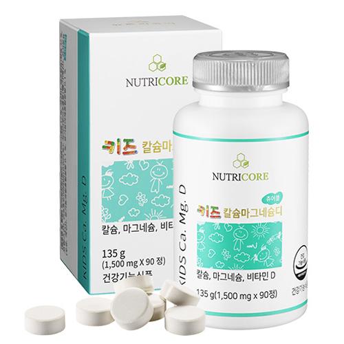 뉴트리코어 키즈 칼슘 마그네슘 디, 135g, 1개