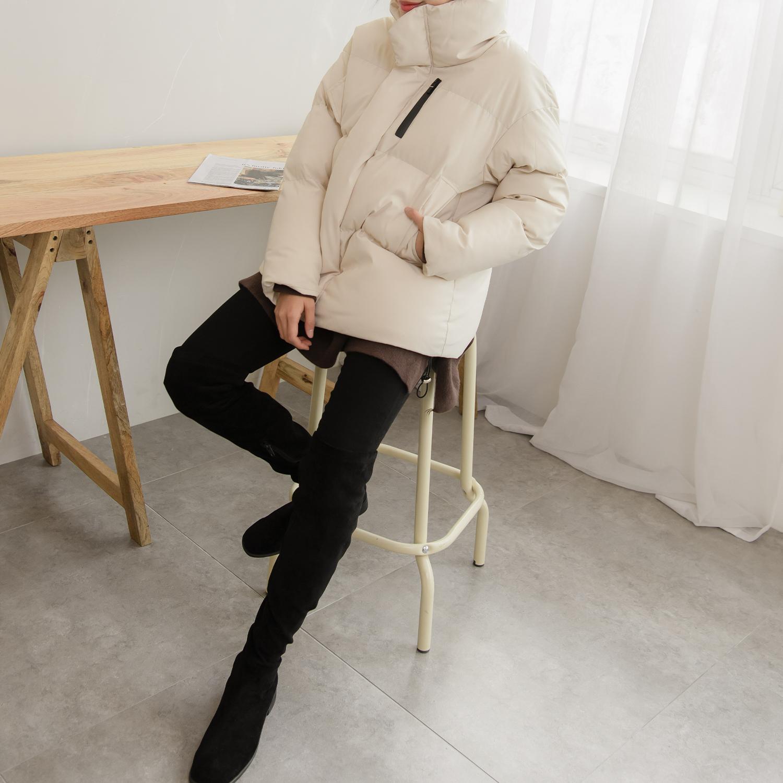 트위 여성용 테리 도톰 패딩점퍼