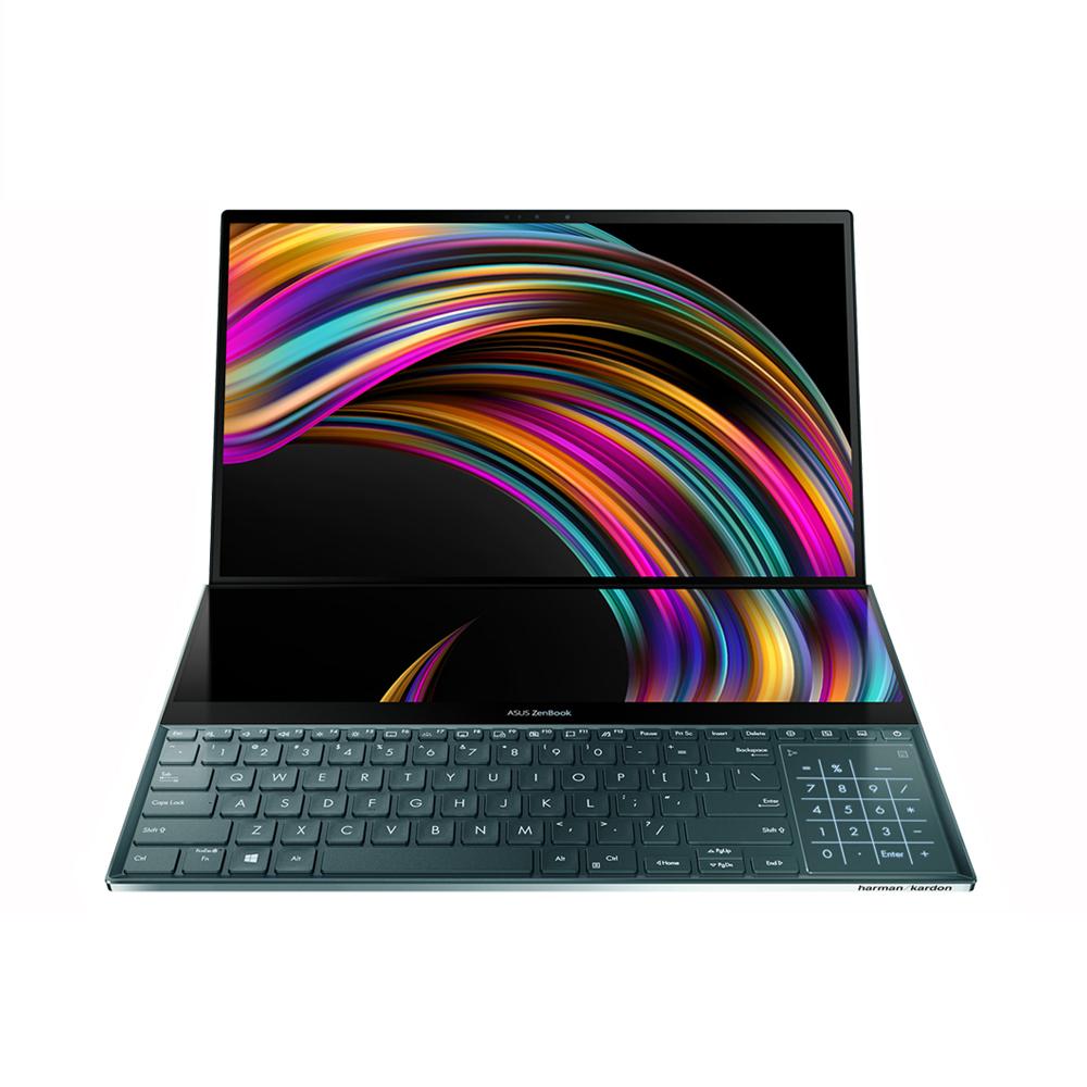 에이수스 젠북 프로듀오 UX581GV-H2001TS (인텔 코어 i9-9980HK 39.6cm 4K UHD OLED 터치스크린 32GB RAM NVMe 1TB RTX2060 WIN10), UX581G, 셀레스티얼 블루