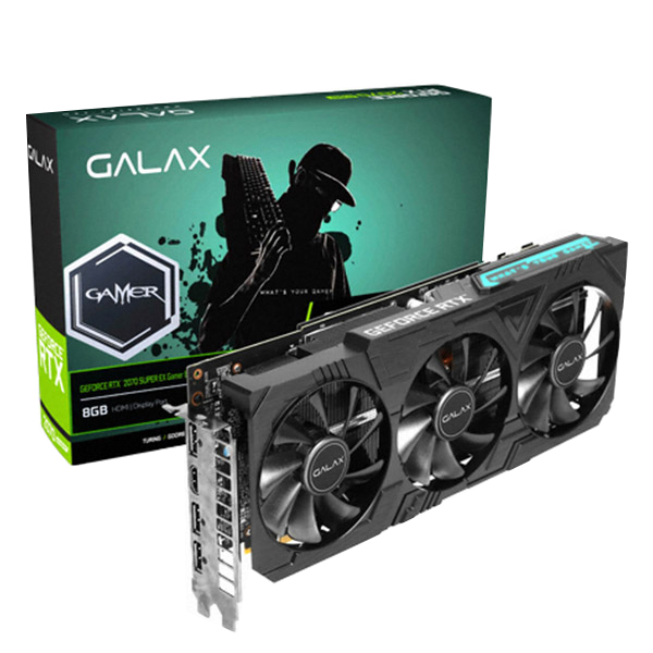 GALAX 지포스 RTX2070 SUPER EX Gamer OC D6 8GB BLACK Edition 그래픽카드, RTX2070 Super EX-1 Click OC PCI-E 8GB GDDR 256Bit