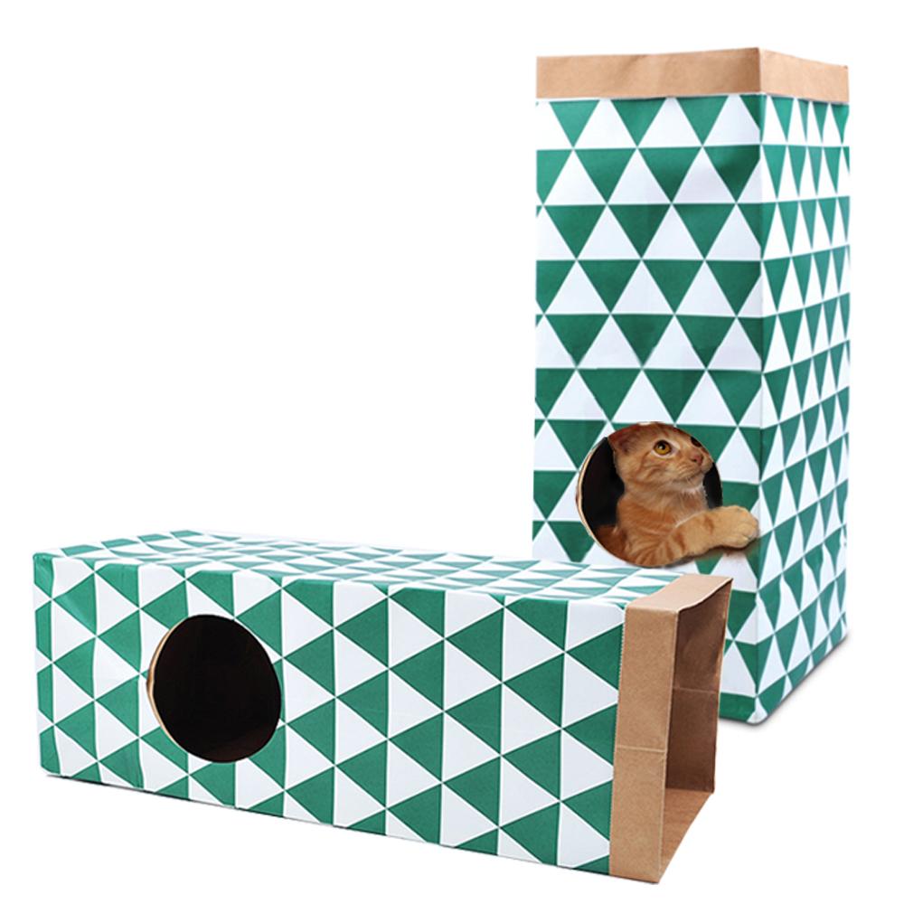 정글몬스터 고양이 크래프트 터널 장난감, 혼합 색상, 2개