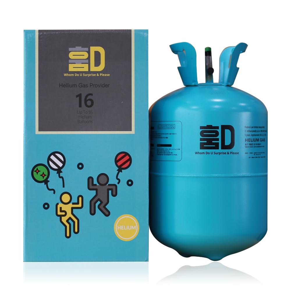모던 훔드 헬륨가스 16개용, 혼합 색상, 1개
