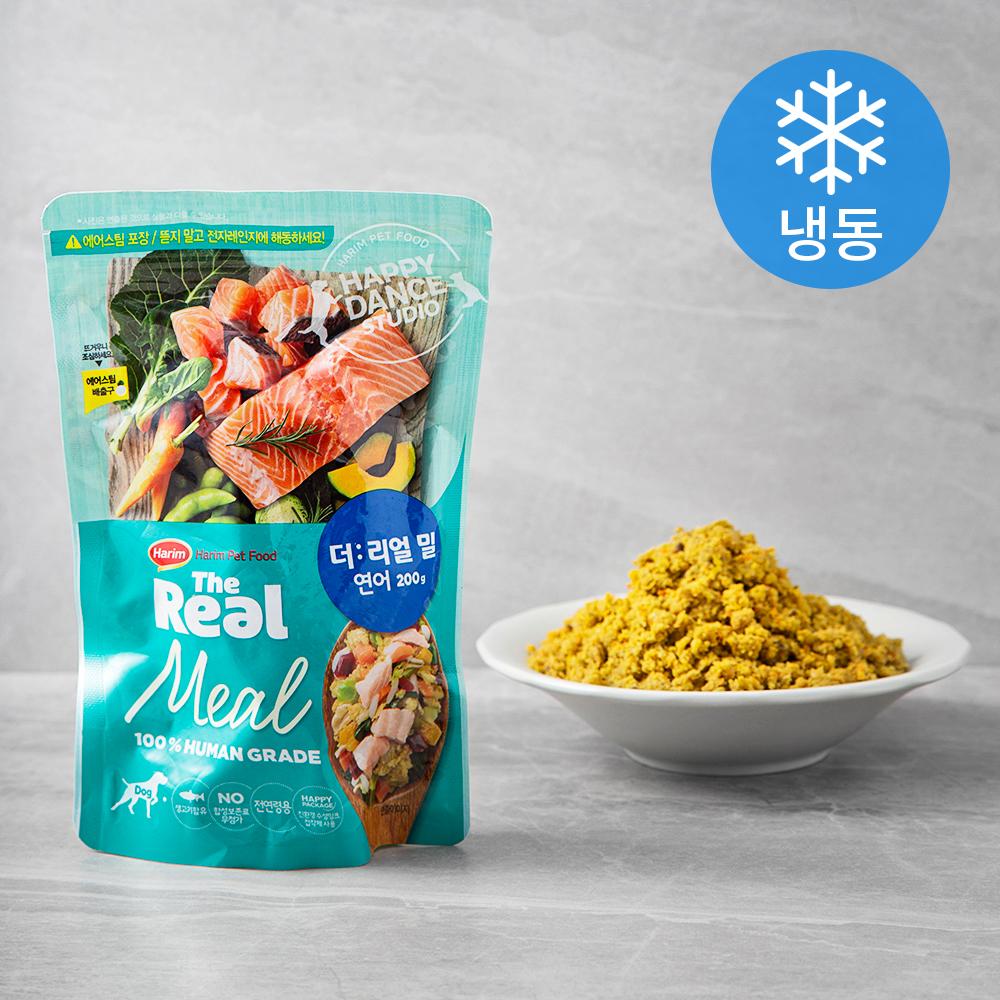 하림펫푸드 강아지 더리얼 밀 소프트사료 (냉동), 연어, 200g