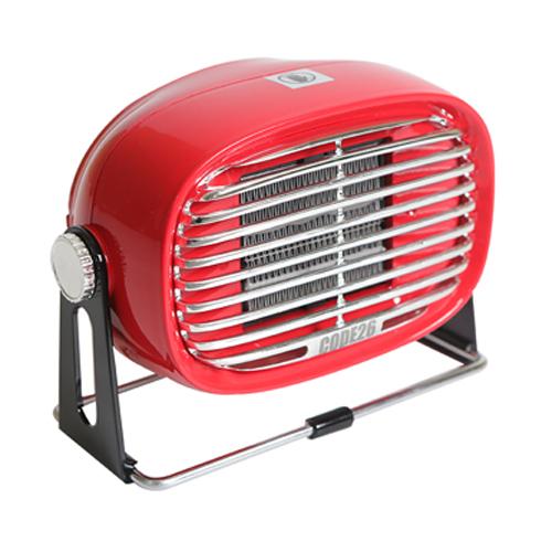 캠핑 사무실 PTC 미니온풍기 팬히터 500W, CODE-PTCF500, RED