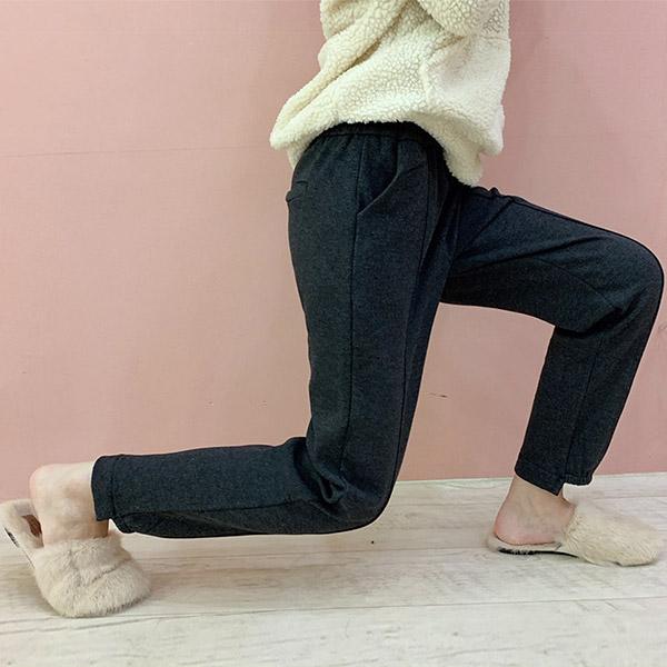 여성용 멜로비 융털 조거팬츠