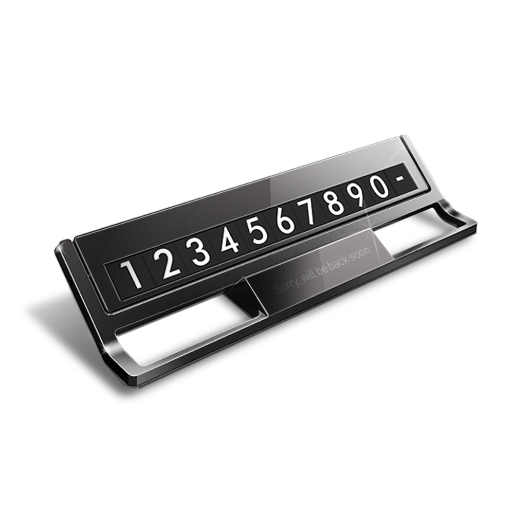 뷰센트 De.Line 프리미엄 차량용 메탈 주차번호판, 혼합 색상, 1개