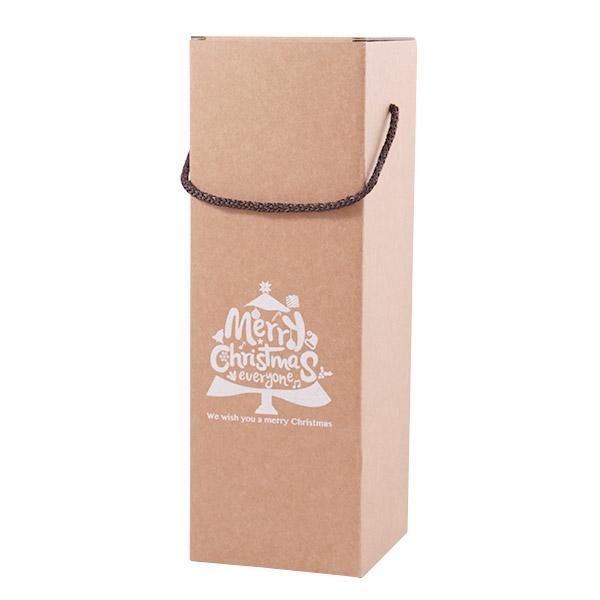 끈손잡이 크리스마스 와인박스 6p, 혼합 색상