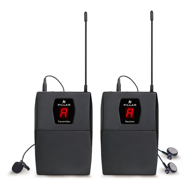 필라 UHF 무선 핀마이크, 송신기(CM-WM01UHF), 수신기(CM-WM01UHF-R)