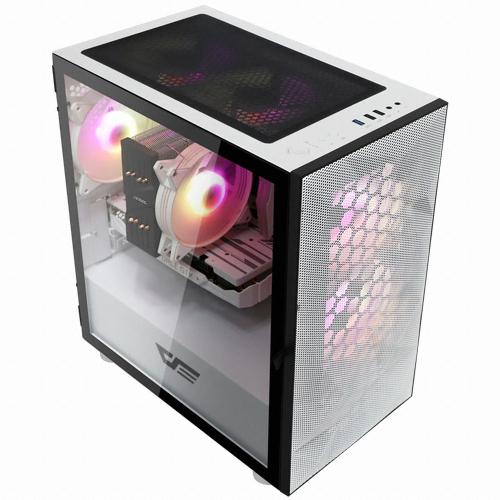 다크프레쉬 AZ PC케이스 미니타워 화이트 DLM 21 RGB MESH