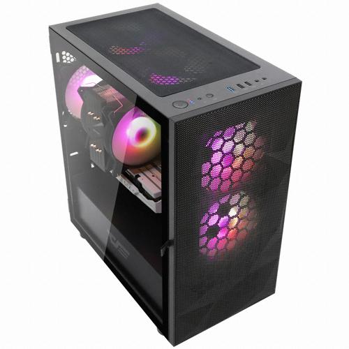 다크프래쉬 AZ PC케이스 DLM 21 RGB 미니타워 메쉬 블랙, 단일 상품