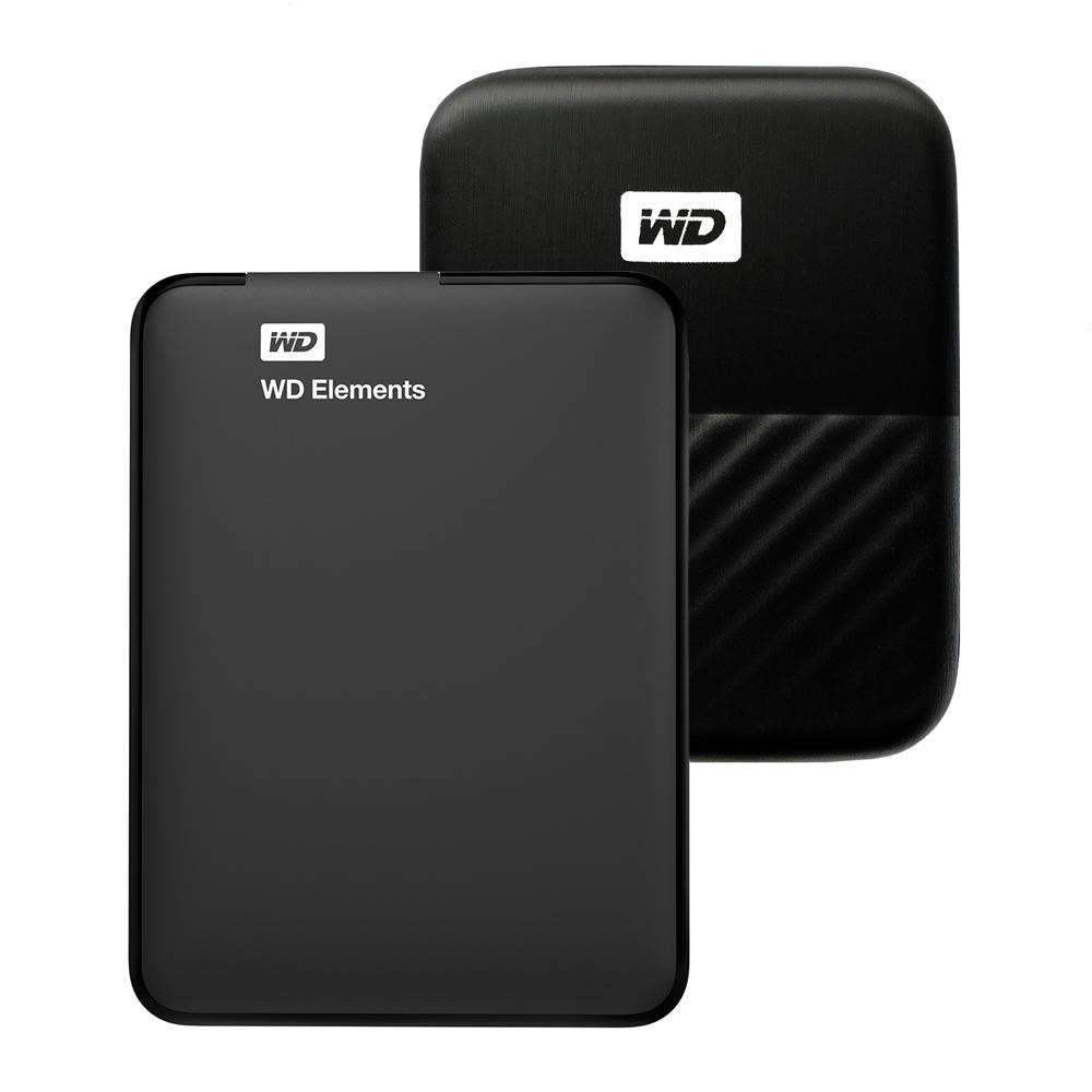 WD Elements Portable 휴대용 외장하드 + 파우치 WDBU6Y0050BBK-WESN, 5TB, 블랙