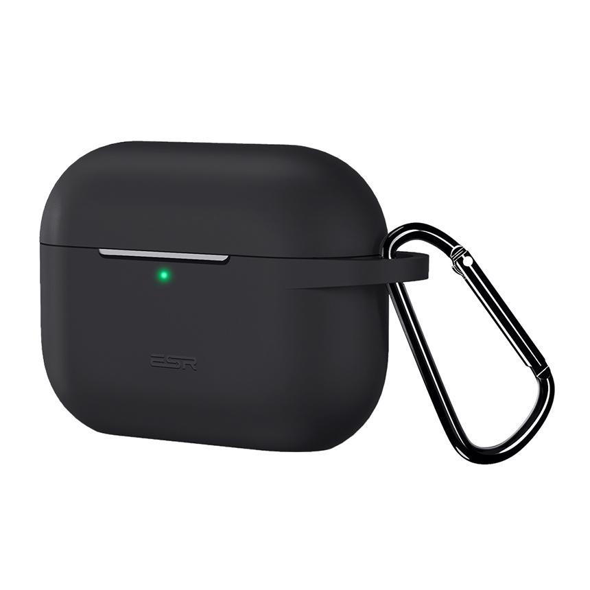 이에스알 에어팟 프로 바운스 실리콘 케이스 + 고리, 단일 상품, 블랙