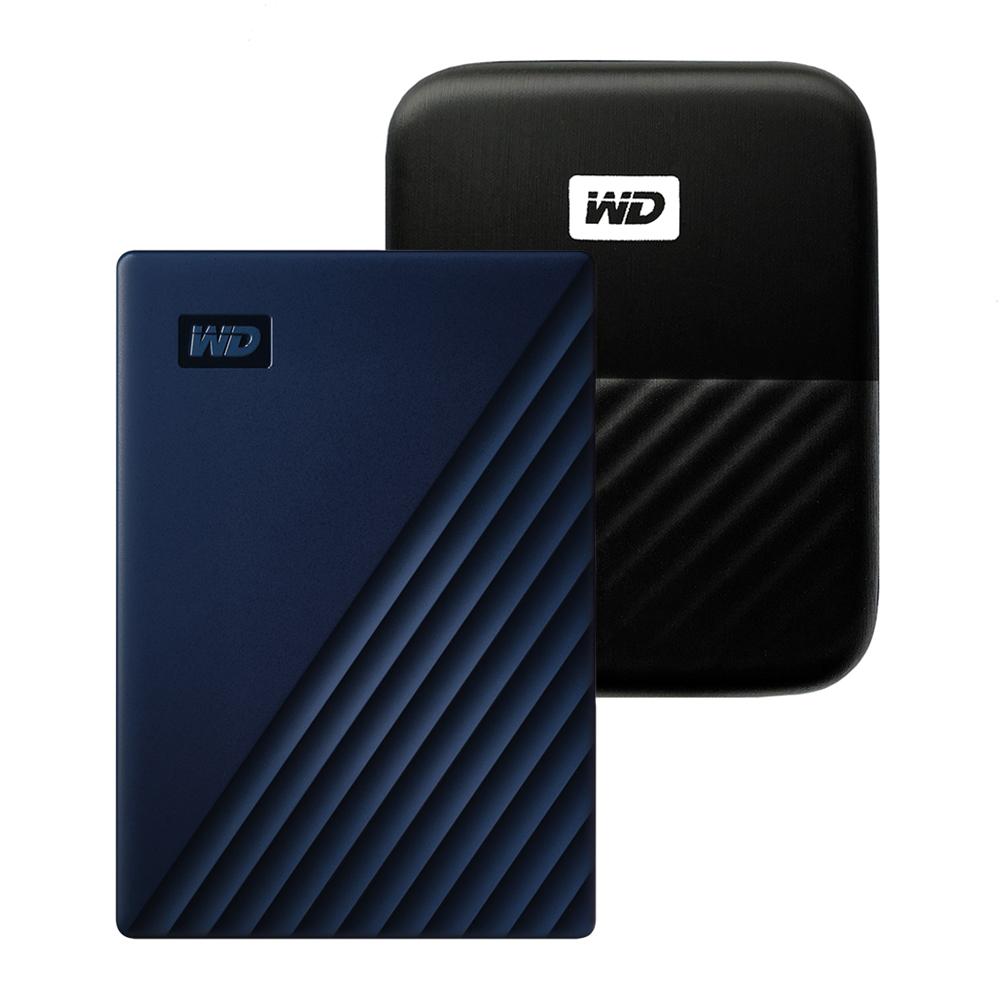 WD My Passport For Mac 휴대용 외장하드 + 파우치, 5TB, 네이비