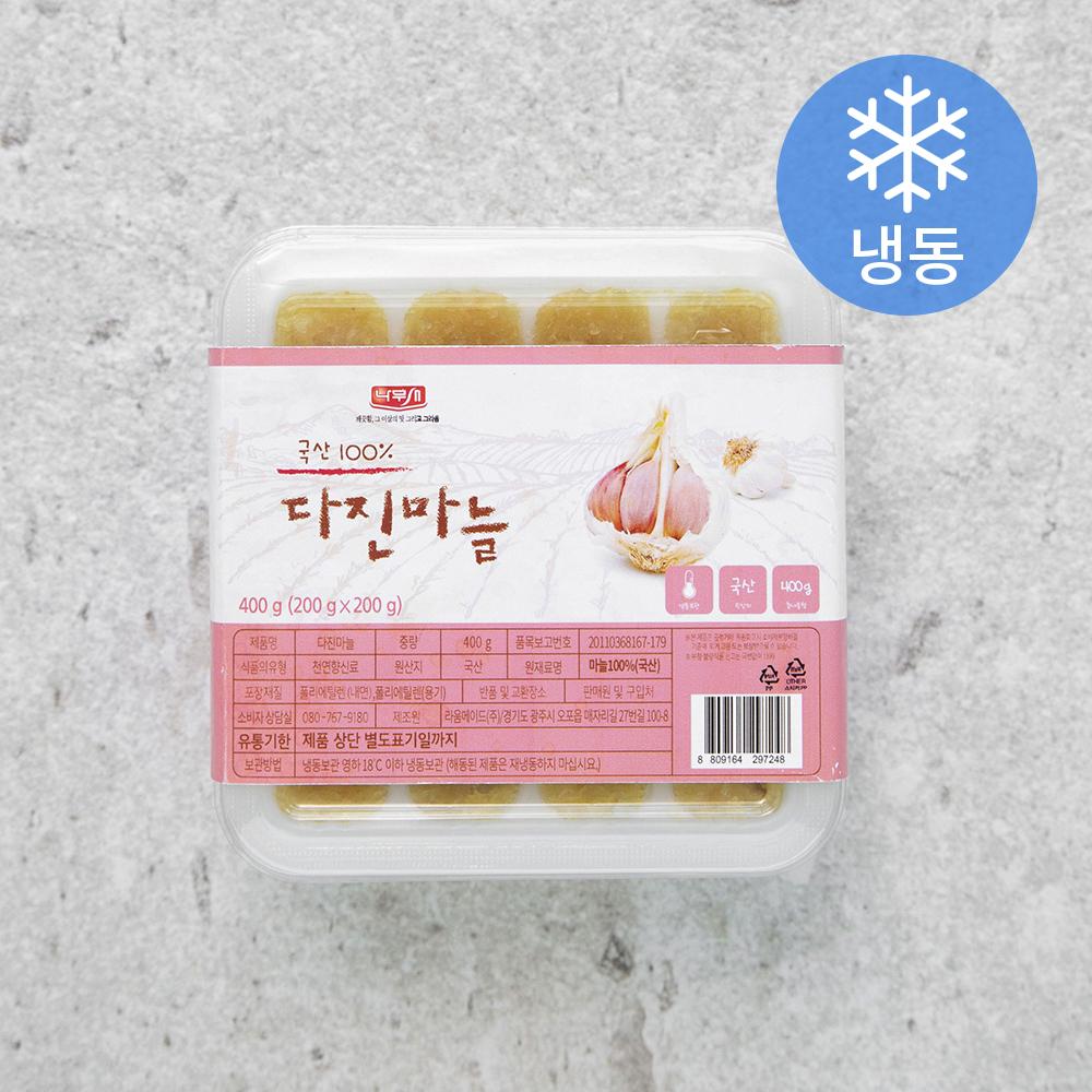 나무새 다진마늘 (냉동), 400g, 1개