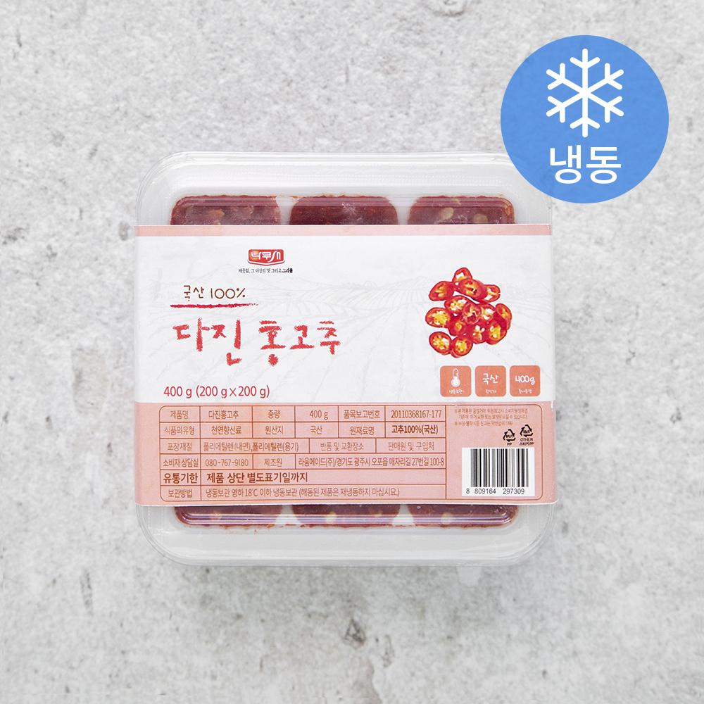 나무새 다진홍고추 (냉동), 400g, 1개