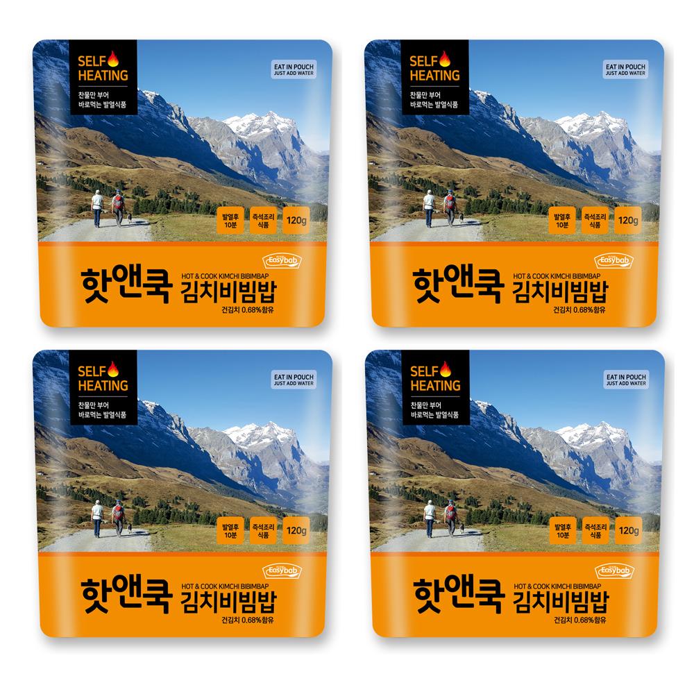 이지밥 핫앤쿡 김치비빔밥, 120g, 4개