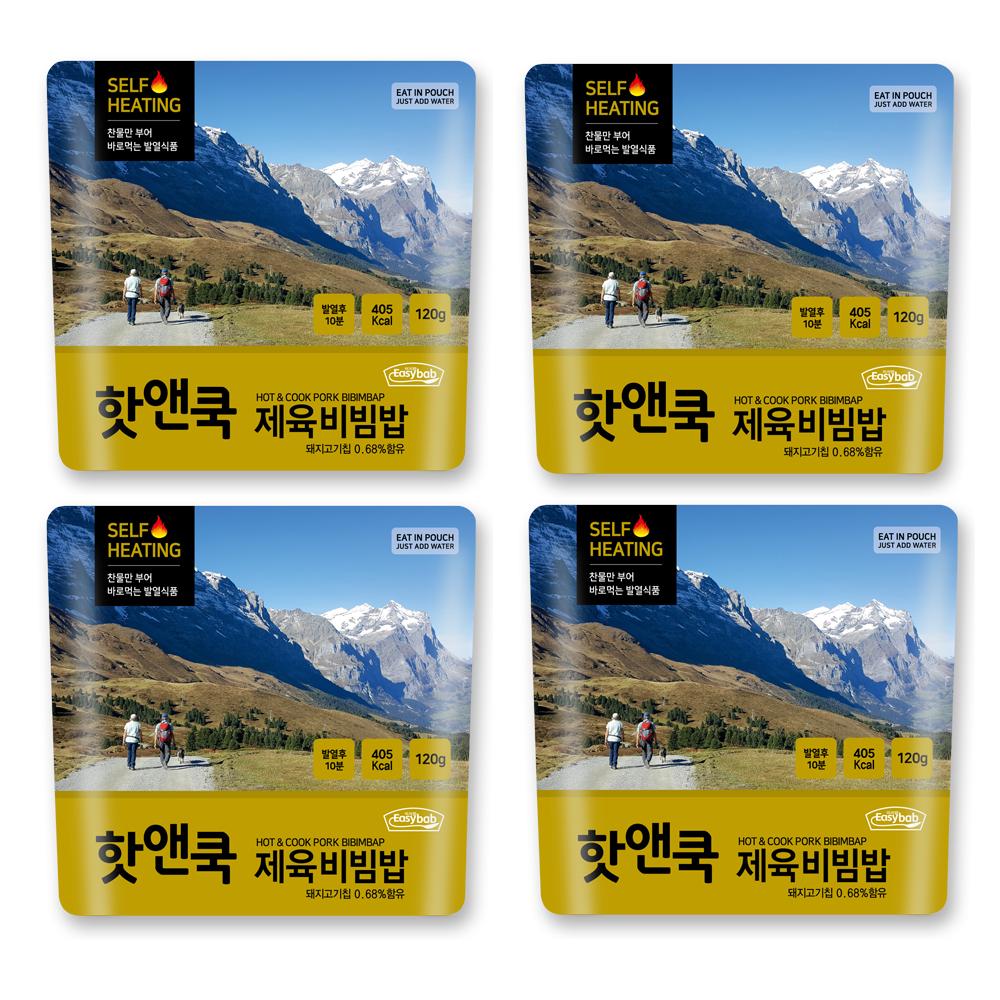 이지밥 핫앤쿡 제육비빔밥, 120g, 4개