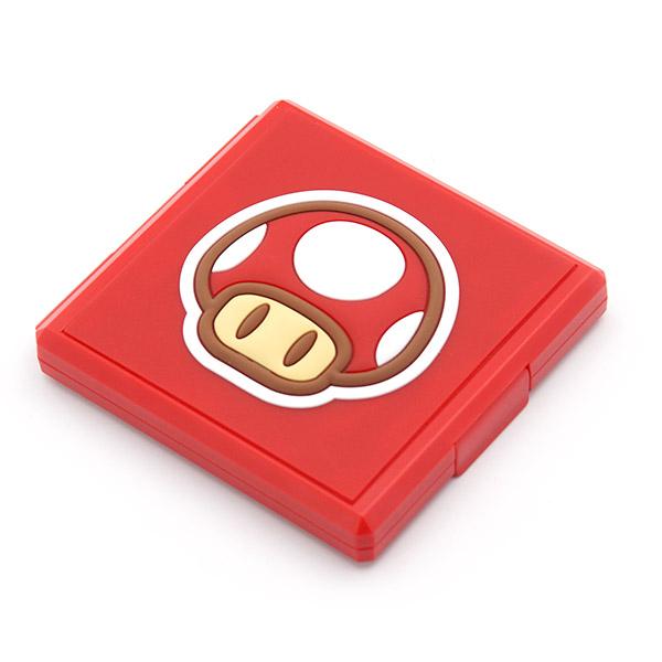 모모켓 닌텐도스위치 라이트 공용 게임팩 심볼케이스, 레드, 1개