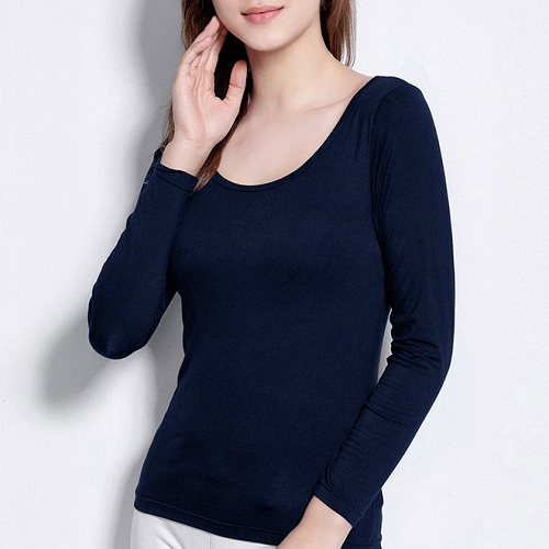 마른파이브 여성용 모달 노브라 캡내장 긴팔 티셔츠