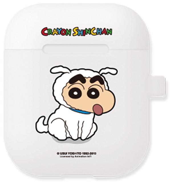 짱구 차밍 에어팟 케이스 + 철가루 방지 스티커, 단일 상품, 흰둥이짱구